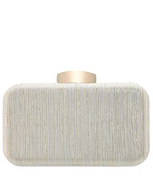 Elaine Metallic Striped Minaudiere