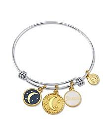 """Dream"" Adjustable Bangle Bracelet in Stainless Steel"
