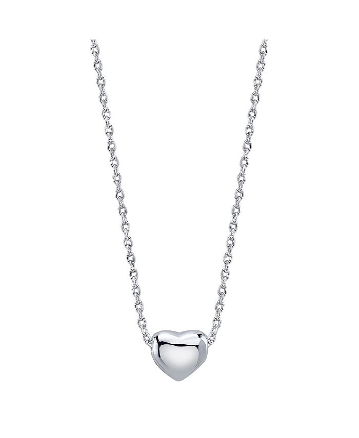 Unwritten - Dainty Heart Necklace in Fine Silver Plate