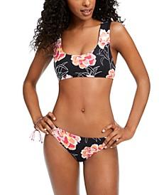 Juniors' Floral-Print Bikini Top & Bottoms