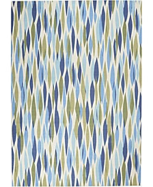 "Shady Brights SHA01 Aquamarine 5'3"" x 5'3"" Square Area Rug"
