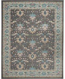 Peace PEA10 Gray, Pink 8' x 10' Area Rug