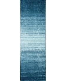 "Land H115 Turquoise 2'6"" x 8' Runner Rug"