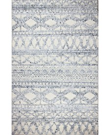 "Natural Wool M133 Ivory and Blue 7'6"" x 9'6"" Area Rug"