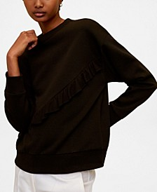 Ruffled Cotton Sweatshirt