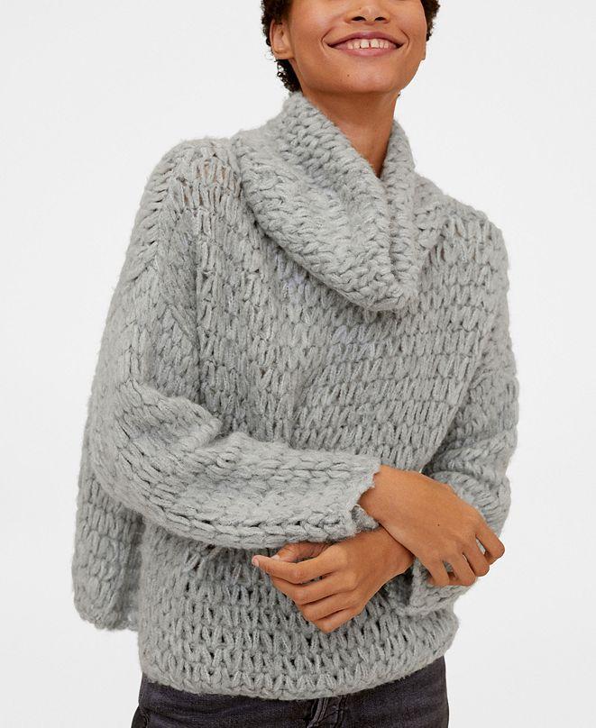 MANGO Cowl Neck Sweater