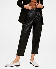 Relaxed Fit Cropped Trousers