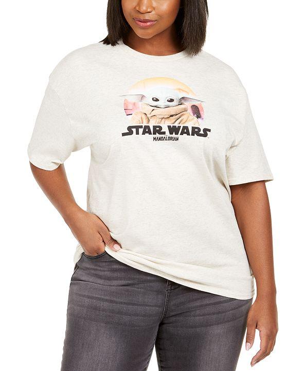 Love Tribe Trendy Plus Size Star Wars Baby Yoda Graphic T-Shirt