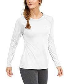Women's Windgates Mesh-Trim Long-Sleeve T-Shirt