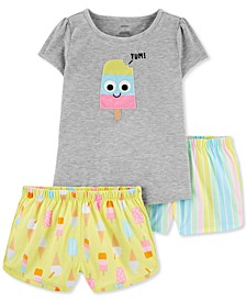 Little & Big Girls 3-Pc. Popsicle Pajamas Set