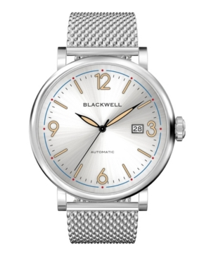 Sunray White Dial with Silver Tone Steel and Silver Tone Steel Mesh Watch 44 mm