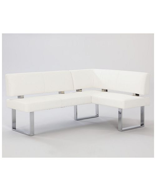 Chintaly Linden Contemporary Rectangular Bench Nook