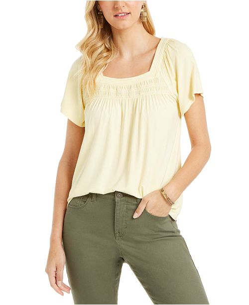 Style & Co Square-Neck Top, Created for Macy's