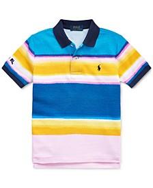 폴로 랄프로렌 남아용 폴로 셔츠 Polo Ralph Lauren Toddler Boys Striped Cotton Mesh Polo Shirt,Carmel Pink