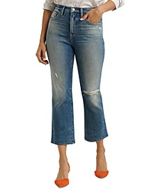 Bridgette Cropped Mini Bootcut Jeans