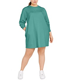 Plus Size French Terry Sweatshirt Dress