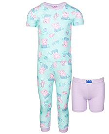Toddler Girls 3-Pc. Cotton Pajamas Set