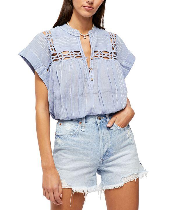 Free People Cedar Lace Pullover Top