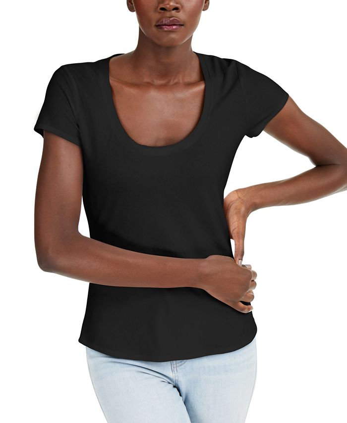 INC International Concepts - The Basic Scoop T-Shirt