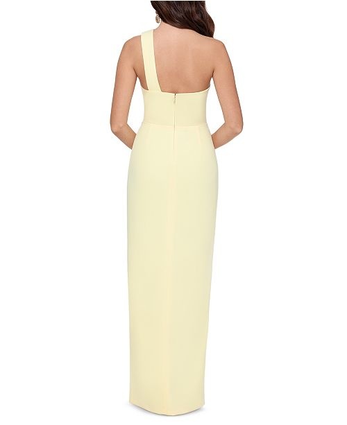 XSCAPE One-Shoulder Scuba Crepe Gown & Reviews - Dresses - Women ...