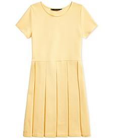 폴로 랄프로렌 Polo Ralph Lauren Big Girls Pleated Ottoman-Rib Dress,Empire Yellow