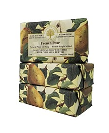 French Pear Soap with Pack of 3, Each 7 oz