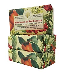 Persimmon and Red Currant Soap with Pack of 3, Each 7 oz