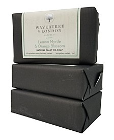 Naturals Lemon Myrtle and Orange Blossom Soap with Pack of 3, Each 7 oz
