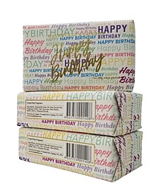 Happy Birthday - Wrap - Bar Soap with Pack of 3, Each 7 oz