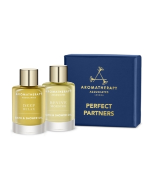 Aromatherapy Associates PERFECT PARTNERS BATH AND SHOWER OIL TRAVEL AND GIFT SET OF 2, 9ML EACH