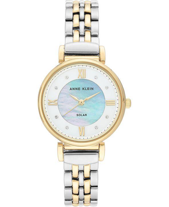 Anne Klein Women's Considered Solar-Powered Two-Tone Bracelet Watch 30mm