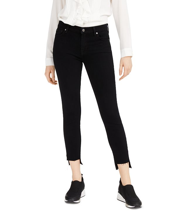 7 For All Mankind Ankle Skinny with Step Hem Jeans