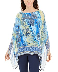 Printed Studded Poncho, Created for Macy's