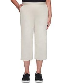 Classics Twill Pull-On Capri Pants