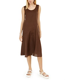 Scoop-Neck Linen Slip Dress