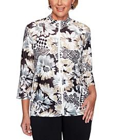 Classics Floral Geometric Printed Jacket