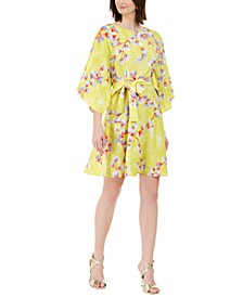 Peony Garden Printed Belted Dress