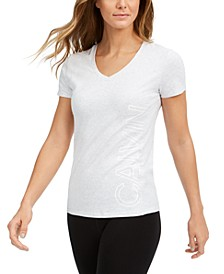 Outline-Logo V-Neck T-Shirt