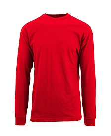 Men's Egyptian Cotton-Blend Long Sleeve Crew Neck Tee