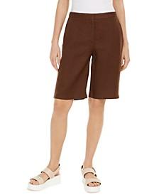 Organic Linen Bermuda Shorts