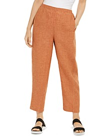 Organic Linen Lantern Ankle Pants, Regular & Petite Sizes