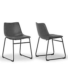 Set of 2 Adan Iron Frame Vintage-like Dining Chair