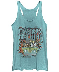 Scooby-Doo Metal Mystery Machine Tri-Blend Women's Racerback Tank