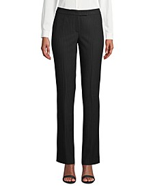 Pinstriped Modern Dress Pants