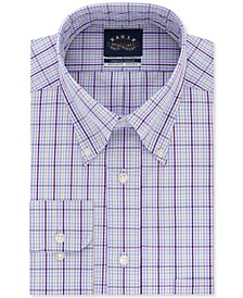 Men's Classic/Regular-Fit Non-Iron Stretch Collar Violet Check Dress Shirt