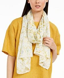 Floral-Print Silk Scarft