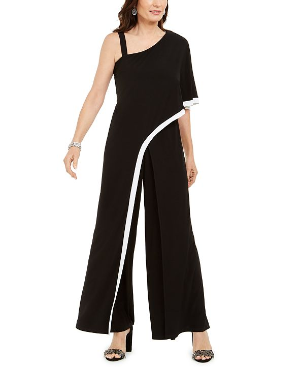R & M Richards One-Shoulder Jumpsuit