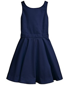 Big Girls Crossback Stretch Dobby Dress
