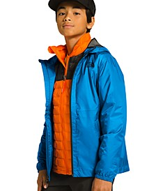 Big Boys Hooded Zipline Rain Jacket