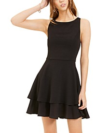 Juniors' Double-Hem A-Line Dress